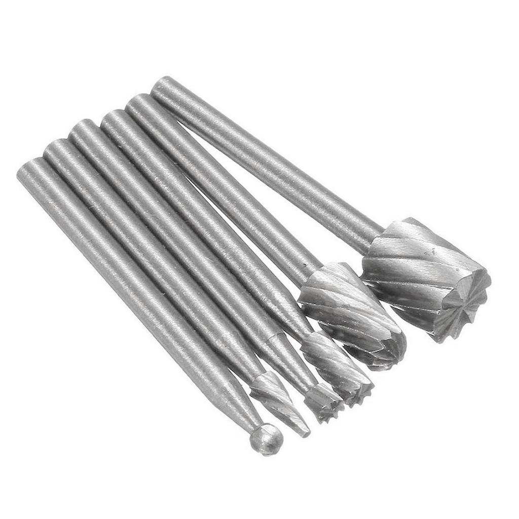 6Pcs Tungsten Carbide Burr 40mm Rotary Cutter Files Set CNC Engraving AL
