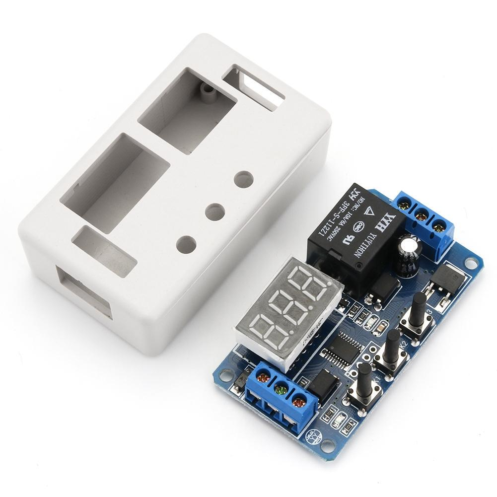 New 12V LED Automation Delay Timer Control Switch Relay Module with case