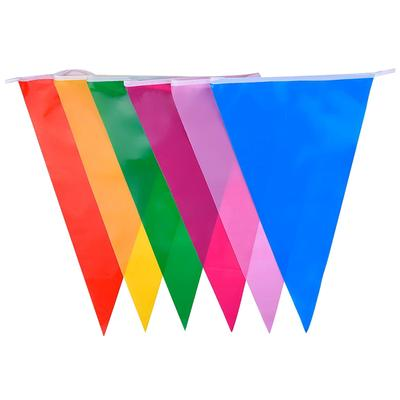 4M Party Decor Paper Rainbow Garland Windmill Multicolored Bunting Banner