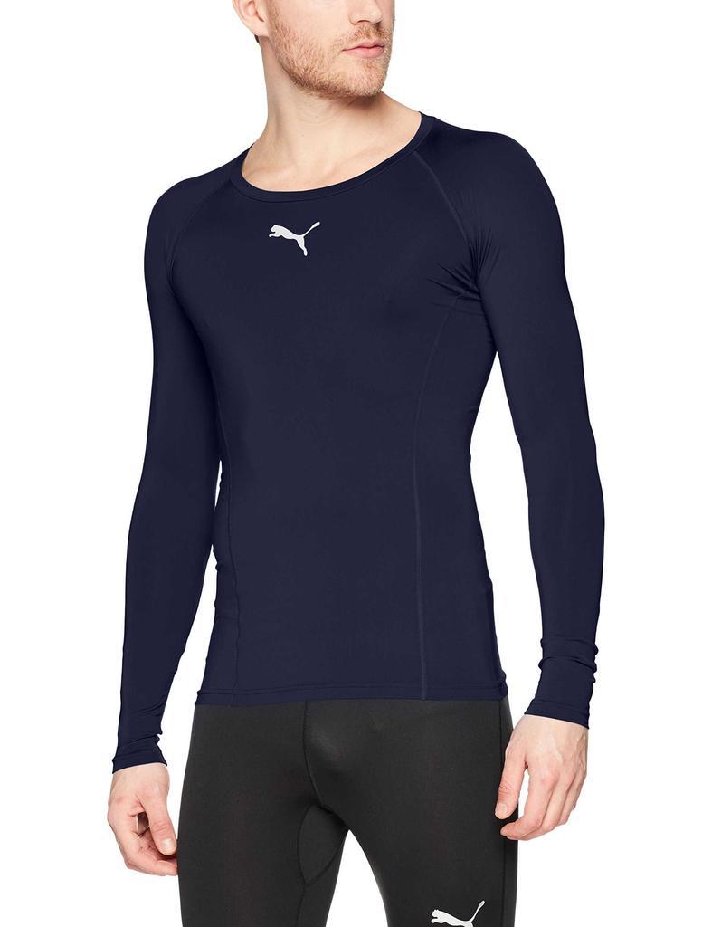 Buy Puma liga baselayer t-shirt men, black (peacoat), medium ...
