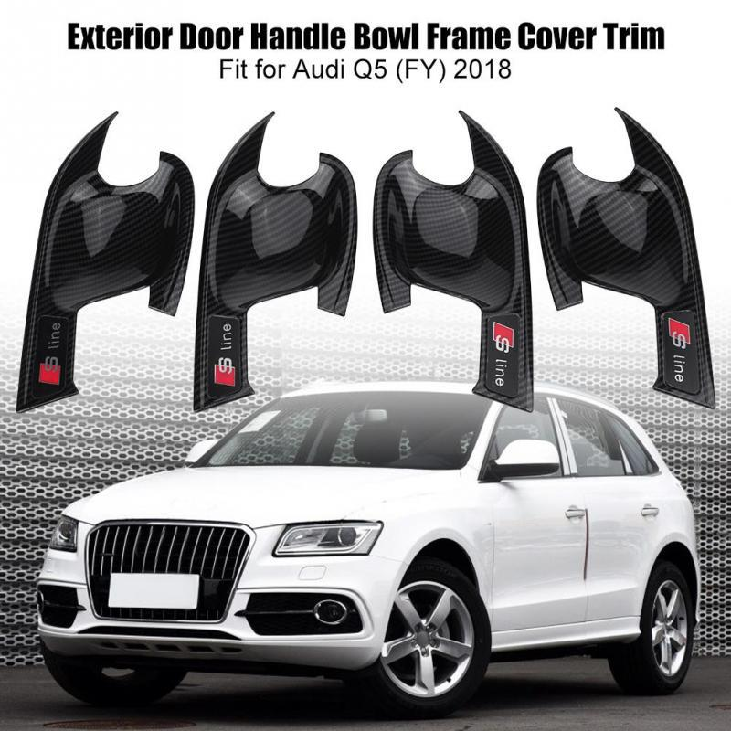 4*Car Stainless steelDoor Outer Handle Trims Decorative Frames For Audi Q3 Q5 Q7