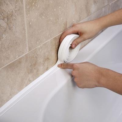 Sink Bath Sealing Strip Tape White PVC Self Adhesive Waterproof Wall Sticker for Bathroom Kitchen