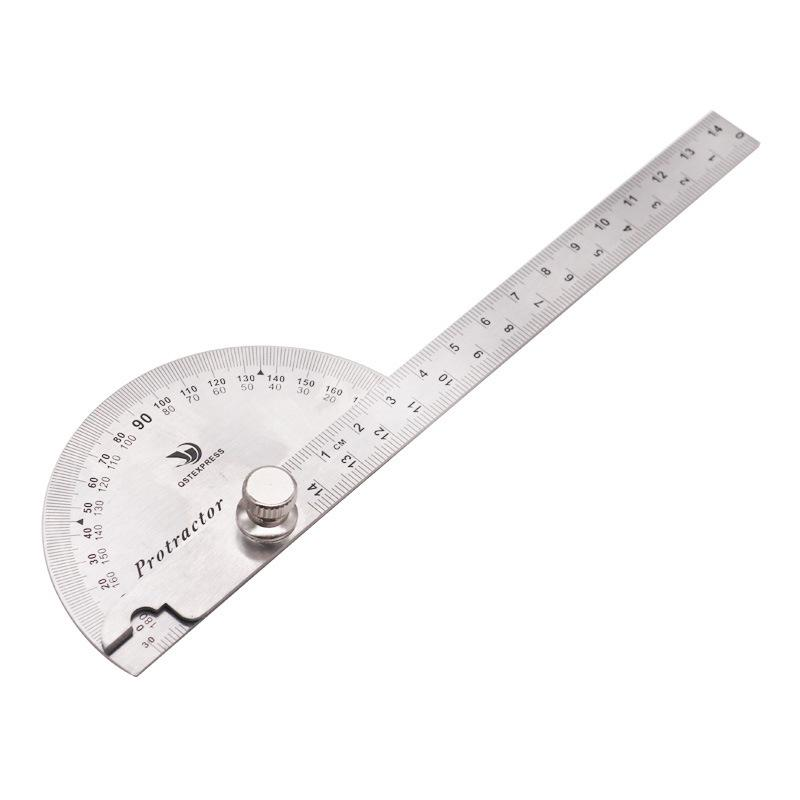 180 Degree protractor finder stainless steel rotary angle ruler measuring toFEU