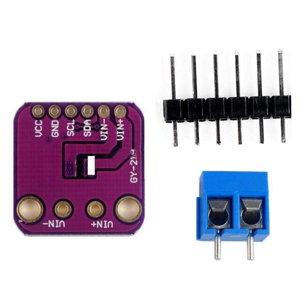 Power supply sensor module gy-219 ina219 I2C bi-directional DC current  breakout purple