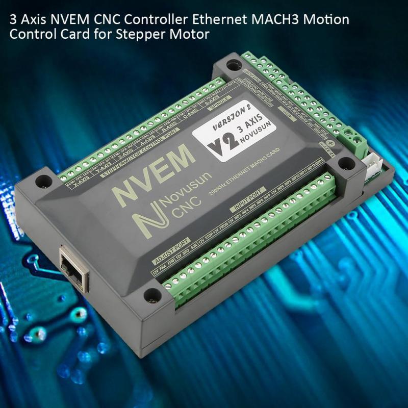3 Axis NVEM CNC Controller Ethernet MACH3 Motion Control Card