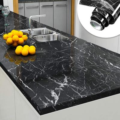 Marble Effect Vinyl Wallpaper Self Adhesive Waterproof Wall Sticker Kitchen Furniture Renovation Buy At A Low Prices On Joom E Commerce Platform
