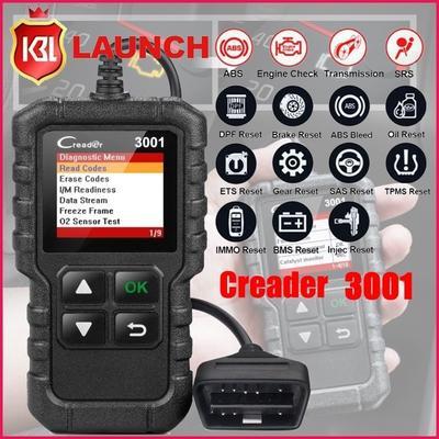 New Launch X431 CR3001 OBD2 EOBD Car Automotive Erase/Reset Fault Codes  Diagnostic Scanner