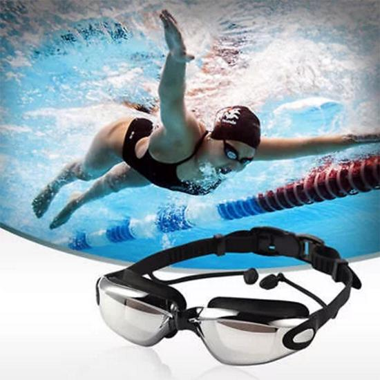 9f168543dc Swimming Glasses Waterproof and Anti-fog Colorful Plating Small ...