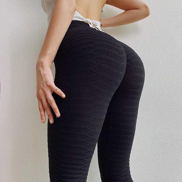 UK Hot Womens Push Up Yoga Pants Sports Leggings Running Gym Workout Trousers