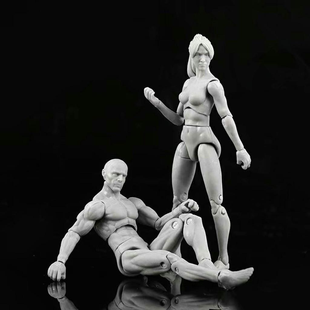 Drawing Figures for Artists Action Figure Human Mannequin Man Woman Model w//Kits