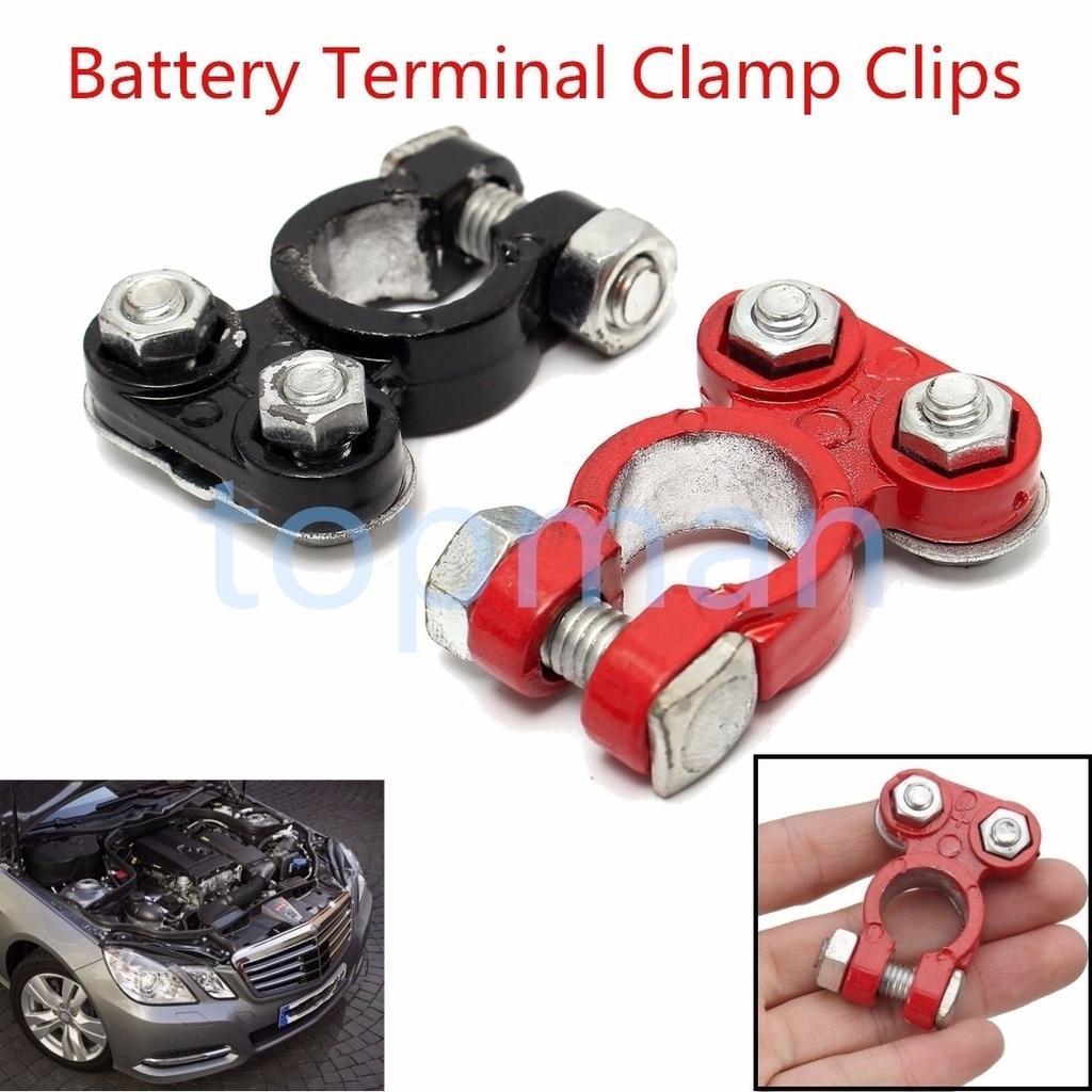 2Pcs Aluminum Car Battery Terminal Clamp Clips Connectors Positive /& Nagative