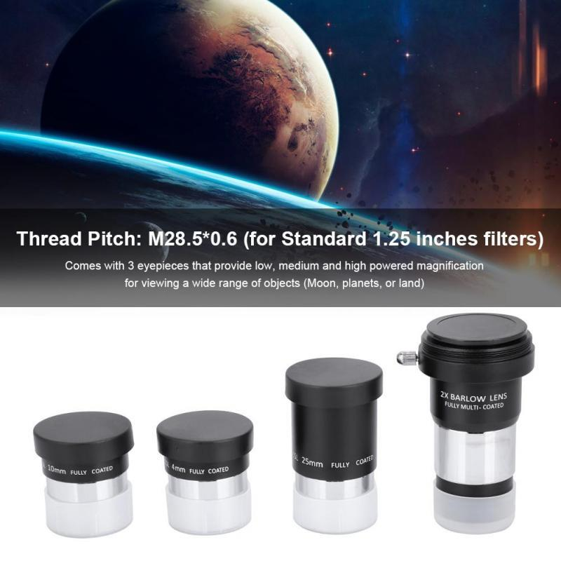 """31.7mm 40mm Plossl Telescope Eyepiece for 1.25/"""" Astronomy Filters 1.25inch"""