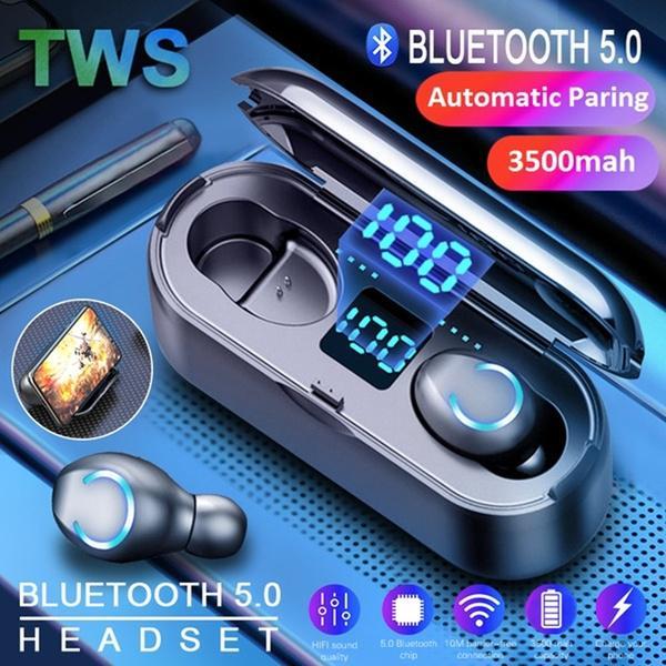 TWS True беспроводная гарнитура bluetooth 5.0 Earbuds Hifi наушники бас Спорт Earpieces сильная батарея фото