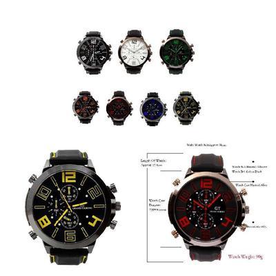 31d6762a477 Acessório de relógio relógios relógios exército Sport GT relógio Japão Touring  homens militares quartzo F1 masculino
