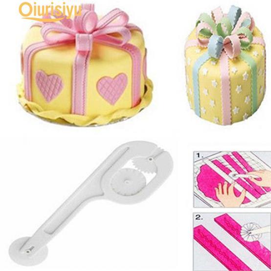 1set Fondant Cake Sugar Craft Paste Embosser Wheel Stitching Cutter Tool FO