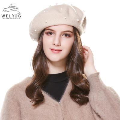 c9e3126be WELROG Autumn Winter Female Duckbill Cap Girls Warm Artist Cotton ...