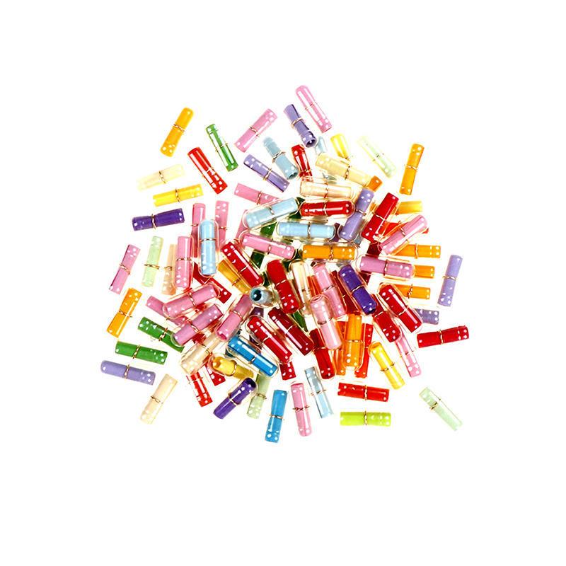 100pcs//Lot Mini Love Capsule Pills Love of Letter Paper Expression Paper HEART