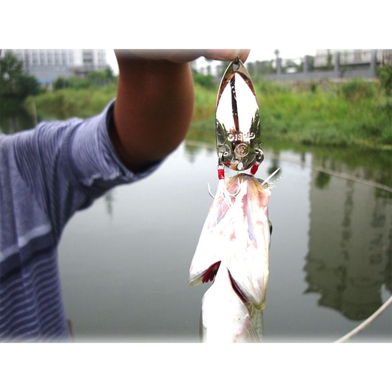 Рыболовная приманка HENGJIA 0.36oz/1.8'' с 2 крючками для щука/форель фото