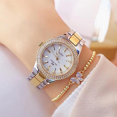 2020 Ladies Wrist Watches Dress Gold Watch Women Crystal Diamond Watches Stainless Steel Clock Women