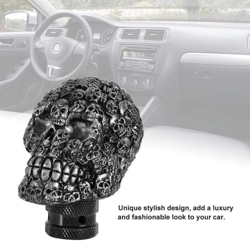 Purple Gear Shift Knob Lever,Skeleton Skull Head Car Modified Gear Shift Knob Stick Lever Shifter Universal