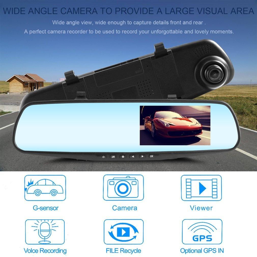 1080P Зеркало DVR камера HD Видео режим Полный рекордер четыре – купить по низким ценам в интернет-магазине Joom
