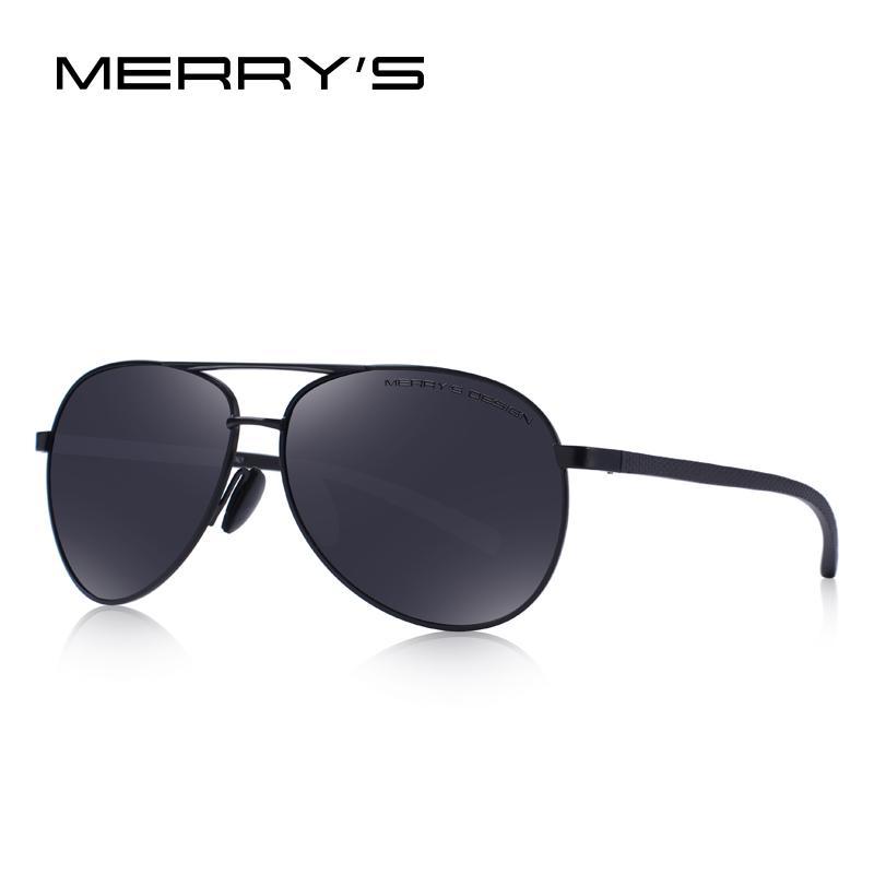 c8d9f9fad3 FELIZ diseño hombres clásico piloto gafas de sol polarizadas para ...