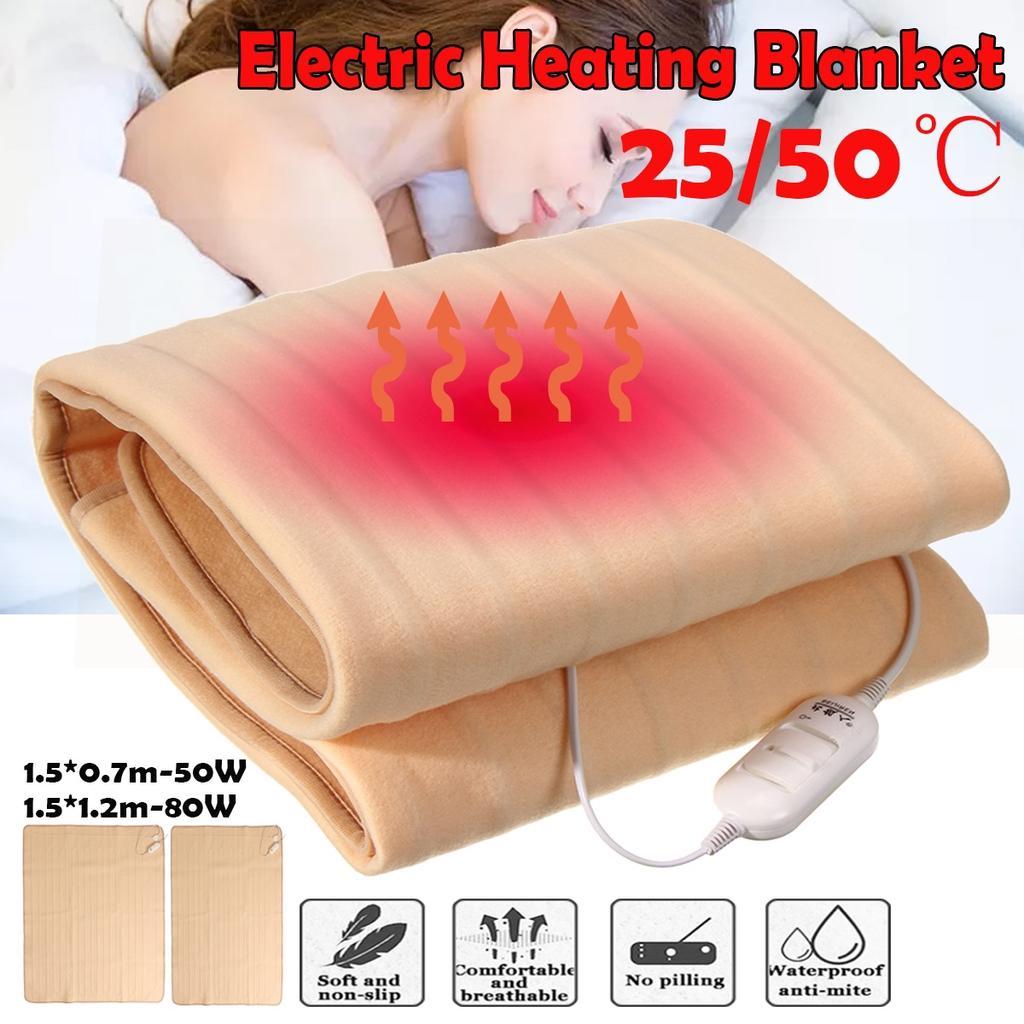 220V Blanket Throw Electric Heated Warm Winter MattressHeating+3 Gear Control US