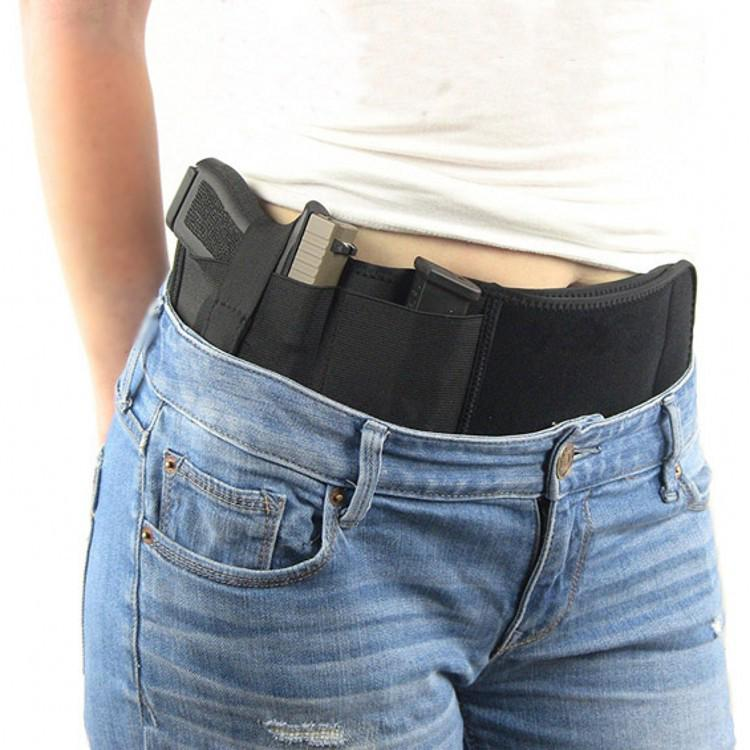 US Belly Band Universal Holster Bag Carry Neoprene WaistBand Handgun Concealed