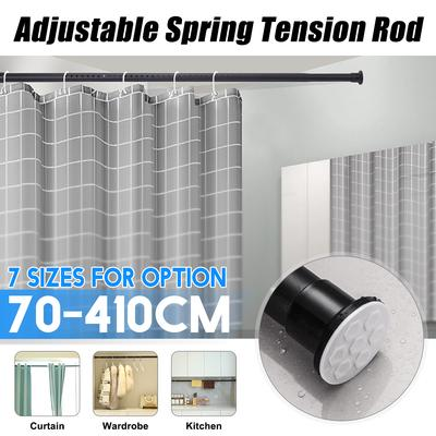 3 Size Shower Curtain Rod L Shape Adjustable Stainless Steel Shower Curtain Rod Pole With 12 Hooks Buy At A Low Prices On Joom E Commerce Platform