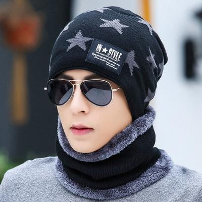 195b1c49b5e Winter Beanies Men Scarf Knitted Hat Caps Mask Gorras Bonnet Warm Baggy Winter  Hats for Men