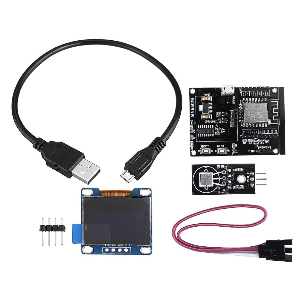 Blue OLED ESP8266 IoT Development Board 0.96 OLED Display SDK Programming WiFi Module Small System Board 1 Set DHT11 Temperature and Humidity