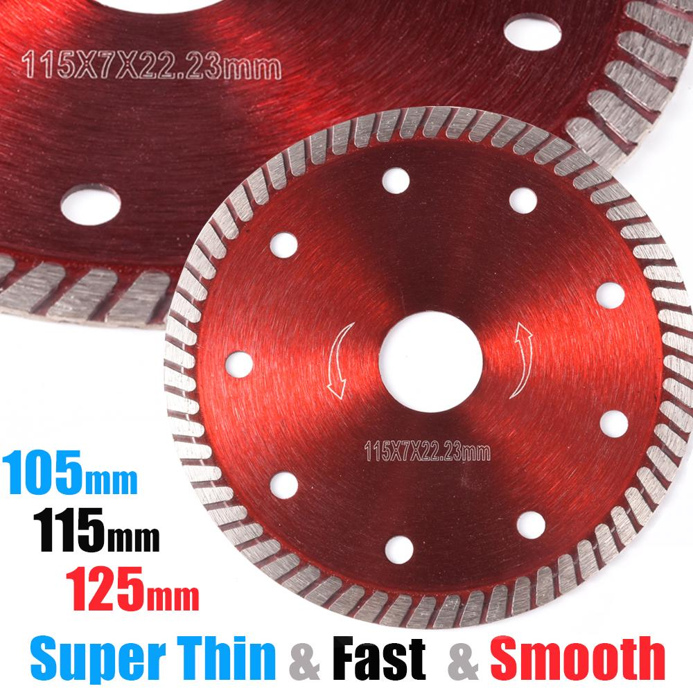 115//125MM Porcelain Tile Turbo Thin Diamond Dry Cutting Blade Grinder Wheel Disc