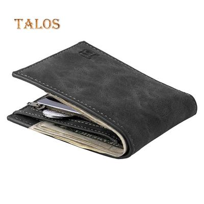 Vintage Faux Leather Short Wallet Casual Thin Card Holder Purse Gift for Men Casual Portable