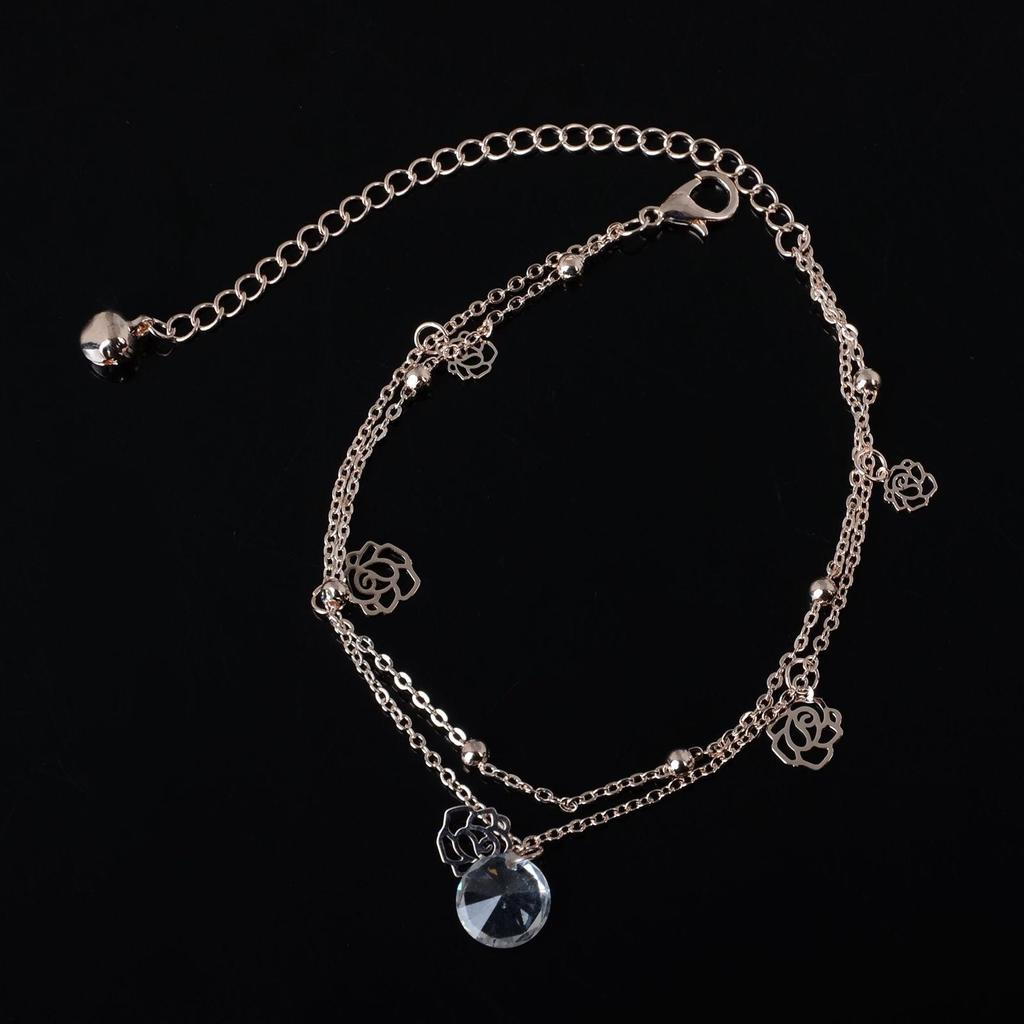 heart hot gold cute jewelry fashion on in korean for white pendant anklets color anklet accessories real from plated bracelet ankle chain girl item bell