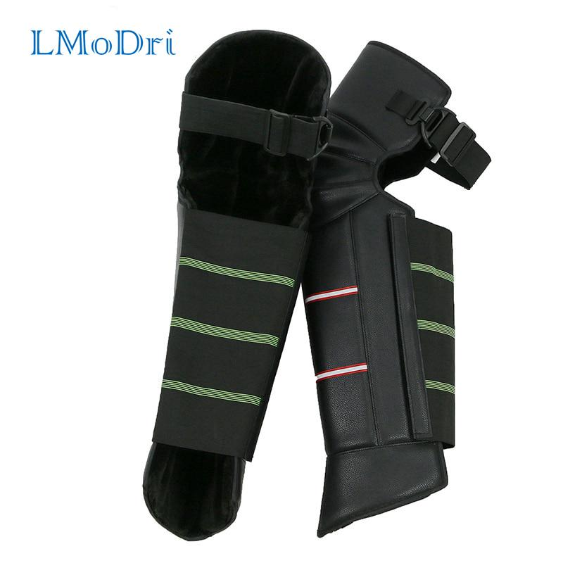 PU Leather Windproof Knee Pads Warm Leggings Covers for Motorcycle Riding Winter Ski Moto Knee Guards