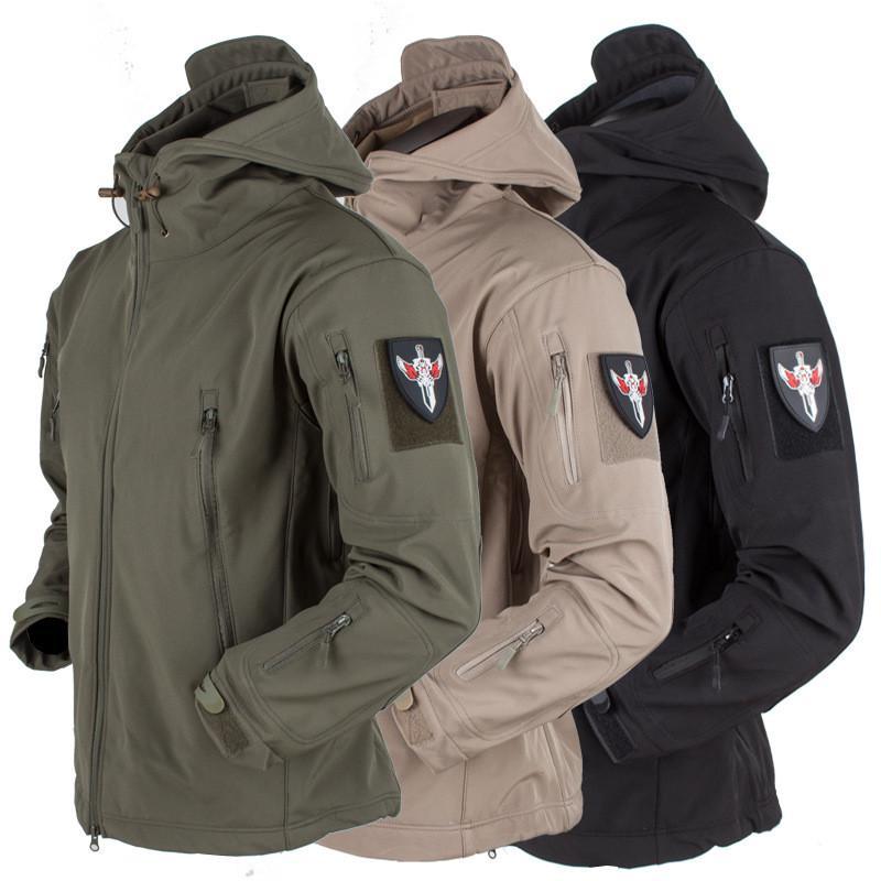 Тактическая военная куртка Водонепроницаемые куртки мужчины армии капюшоном куртка фото