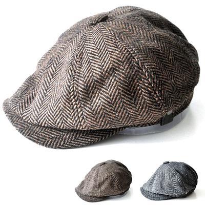 a9831b827a2 Herringbone Tweed Gatsby Newsboy Cap Men Wool Hat Golf Driving Flat Cabbie  Flat Unisex Berets Hat