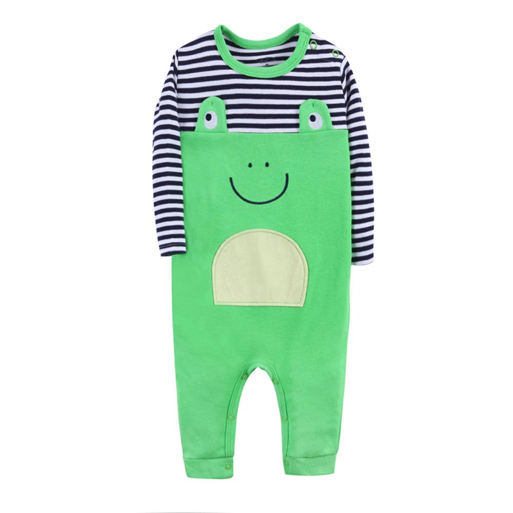 Baby Onesies Boy Newborn Baby Boy Girl Cartoon Elephant Striped Romper Jumpsuit Clothes Outfits