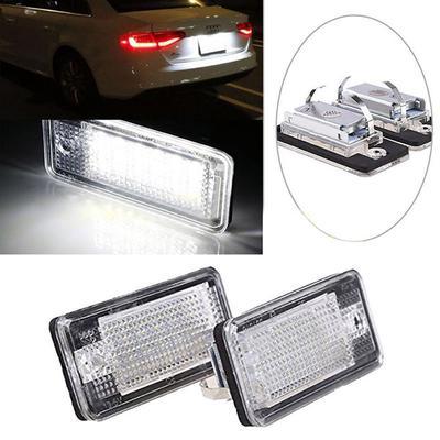 18 SMD LED Auto Bulb Car License Plate LightFor Audi A3 A4 B6 B7 A6 A8 Q7 A5