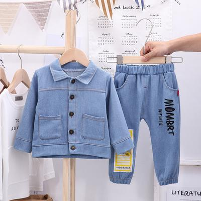 Baby Boys Girls Denim Jacket Kids Toddler Button Down Jeans Jacket Top