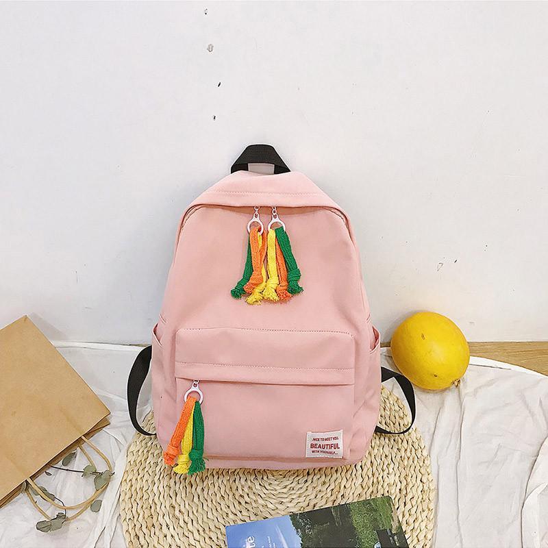 Fashion Candy Color Backpack Women Solid Color Shoulder Bag Backpack Girls Small Travel School Backpacks Shoulder Bags
