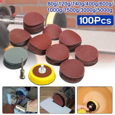 """120 102pc 1//2/"""" Ponçage Bandes Drums manches Set 60 Grain 400 Outil Rotatif 240"""