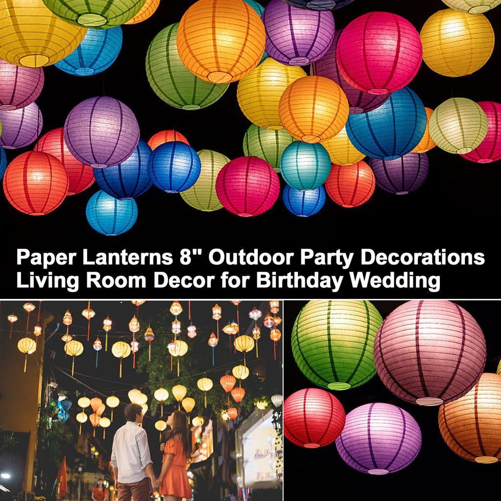 Paper Lanterns 8 Outdoor Party Decorations Living Room Decor For Birthday Wedding Purple Buy At A Low Prices On Joom E Commerce Platform