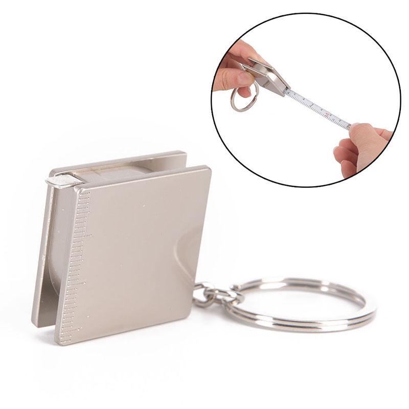 Metal Practical Pocket Tape Measure Keychain Key Chain Keyring Key Fob New Type