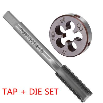 2pcs High Speed Steel HSS M12x1.25mm Metric Tap /& Die Right Hand Thread Tool Kit