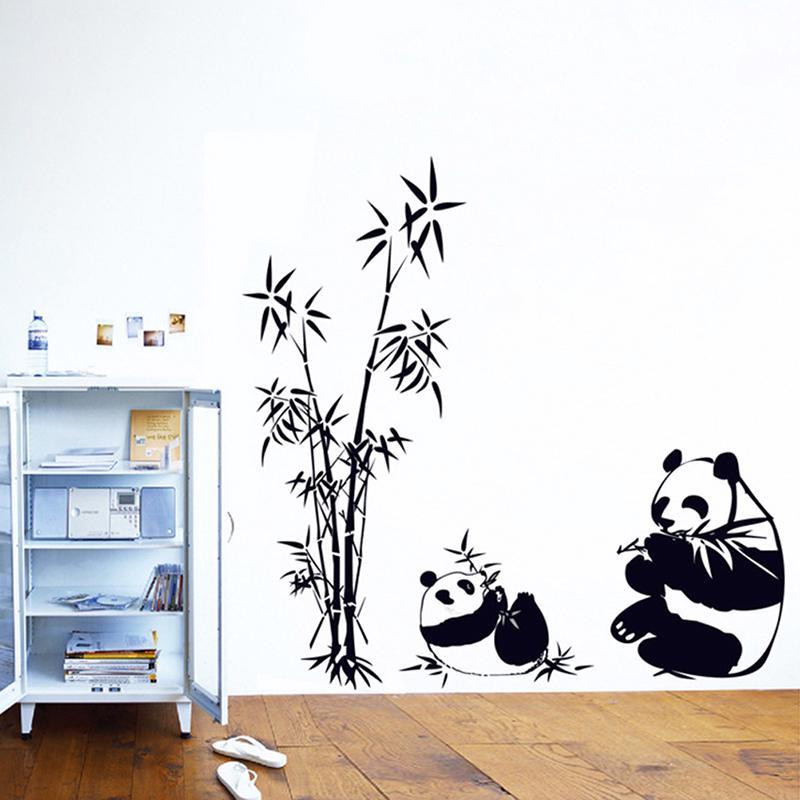 Lindo Panda bambú patrón removible pared pegatinas etiqueta Kids ...