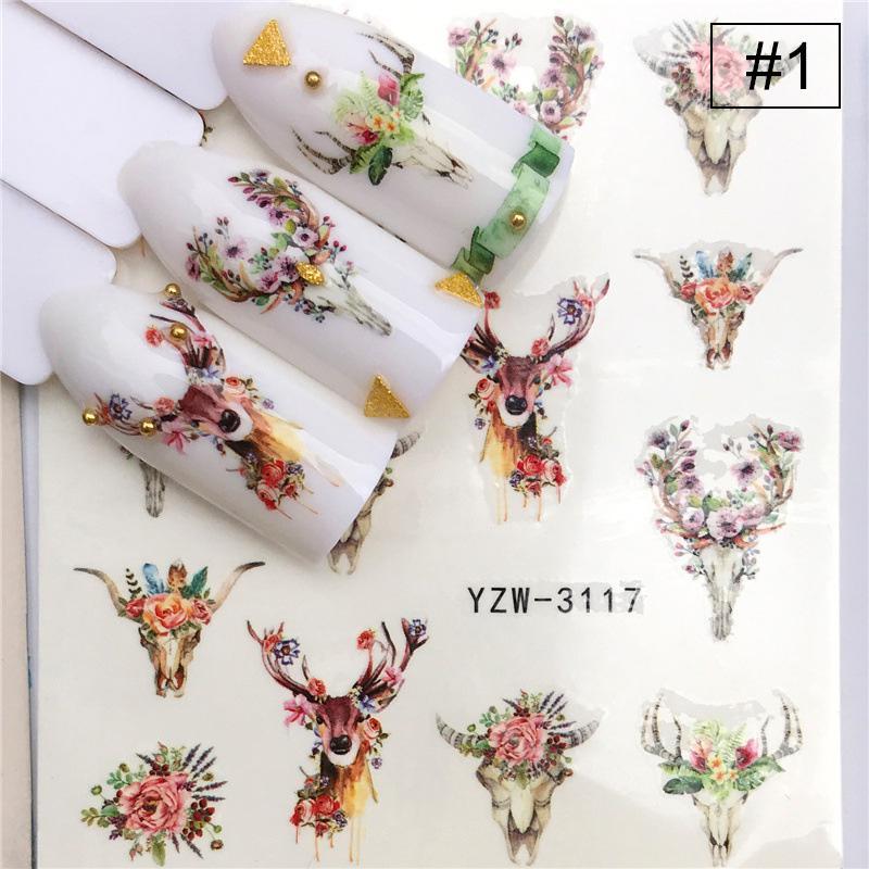 Ногти искусства наклейка животных образцов Ногти Искусство Watermark наклейка Decal Ногти Искусство Татуировка Советы DIY инструмент фото