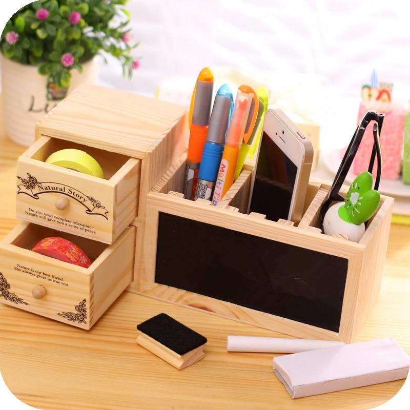 Iron Pen Holder Hollow Desk Organizer Office Table Pencil Storage Container Tool