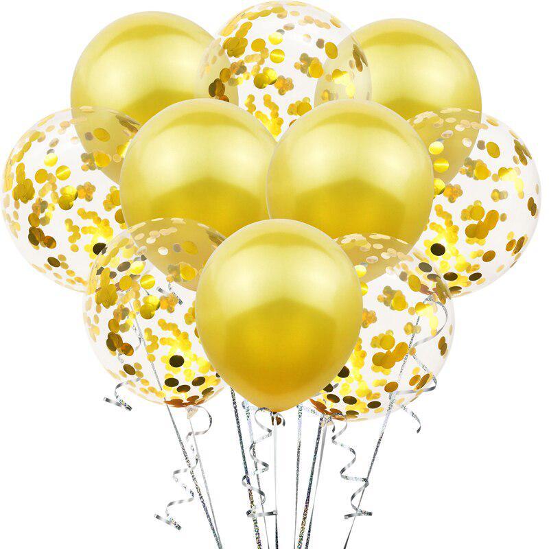 10pcs//lot Mix Confetti Balloons Birthday Party Decoration Kids Adult Metallic