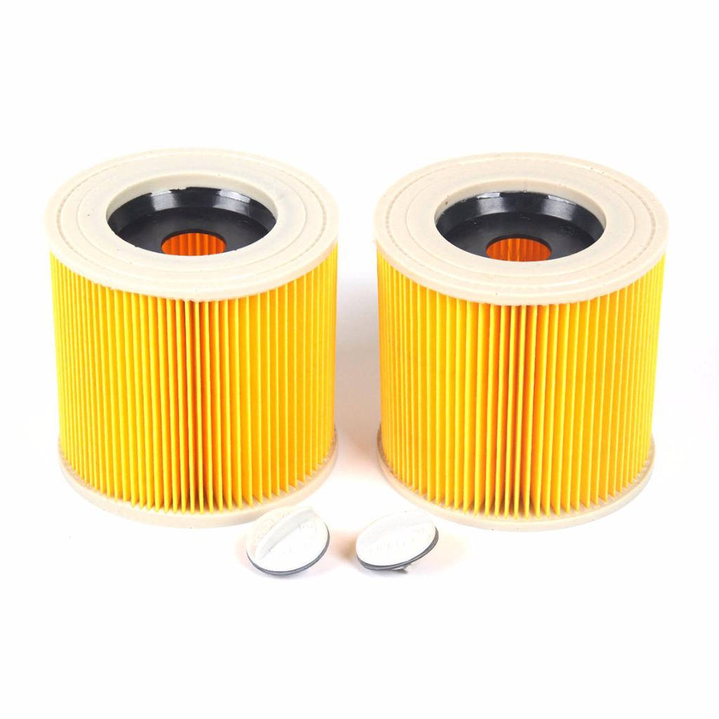2 x Wet /& Dry Hoover Cartridge Filters For Karcher Cylinder Vacuum Cleaners